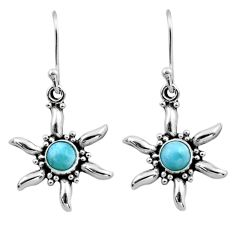 925 sterling silver 0.97cts natural blue larimar dangle earrings jewelry r54224