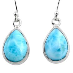 925 sterling silver 10.02cts natural blue larimar earrings jewelry r53751