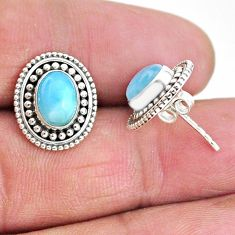925 sterling silver 4.01cts natural blue larimar earrings jewelry t4016
