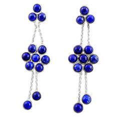 925 sterling silver 15.65cts natural blue sapphire chandelier earrings d39880