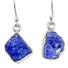 925 sterling silver 9.37cts natural blue tanzanite rough dangle earrings r62127