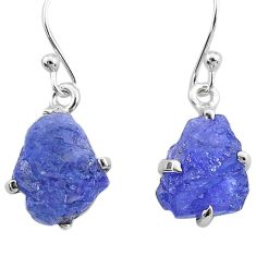 925 sterling silver 8.76cts natural blue tanzanite raw earrings jewelry t6536