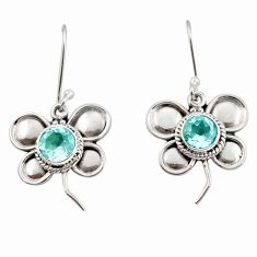 925 sterling silver 2.44cts natural blue topaz butterfly earrings jewelry d45831