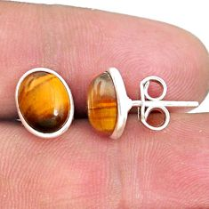 925 sterling silver 5.20cts natural brown tiger's eye earrings jewelry r73080