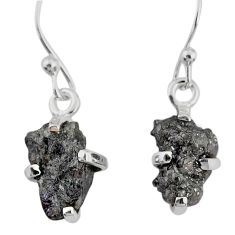 925 silver 4.16cts natural diamond rough handmade dangle earrings r79168