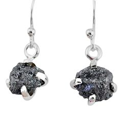 925 silver 3.67cts natural diamond rough handmade dangle earrings r79180