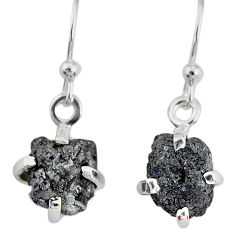 925 silver 3.75cts natural diamond rough handmade dangle earrings r79188