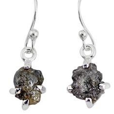 925 silver 3.77cts natural diamond rough handmade dangle earrings r79192