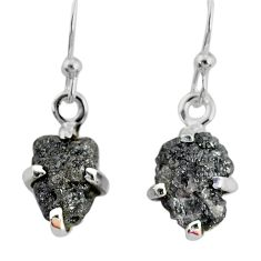 925 silver 3.67cts natural diamond rough handmade dangle earrings r79195