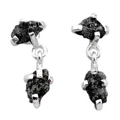 925 sterling silver 8.50cts natural diamond rough dangle earrings jewelry t25717