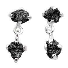 925 sterling silver 7.31cts natural diamond rough dangle earrings jewelry t25719