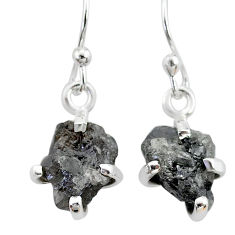 925 sterling silver 3.40cts natural diamond rough earrings jewelry t7828