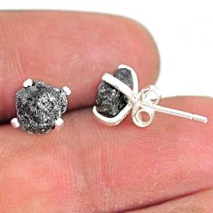 925 sterling silver 3.55cts natural diamond rough stud earrings jewelry r79067