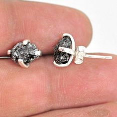925 sterling silver 4.22cts natural diamond rough stud earrings jewelry r79071
