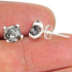 925 sterling silver 4.16cts natural diamond rough stud earrings jewelry r79084