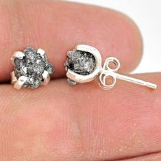 925 sterling silver 4.33cts natural diamond rough stud earrings jewelry r79087