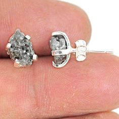 925 sterling silver 4.33cts natural diamond rough stud earrings jewelry r79096