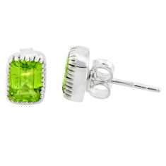 925 sterling silver 2.50cts natural green peridot stud earrings jewelry t7367