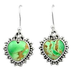 925 sterling silver 7.62cts natural green variscite dangle earrings t41543