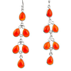 925 sterling silver 11.77cts natural honey onyx dangle earrings jewelry r33139