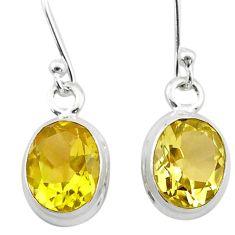 925 sterling silver 6.68cts natural lemon topaz dangle earrings jewelry t24024