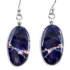 925 sterling silver 10.84cts natural orange sodalite dangle earrings r28884