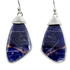 925 sterling silver 12.94cts natural orange sodalite dangle earrings r28891