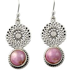 925 sterling silver 5.16cts natural pink kunzite dangle earrings jewelry d47069