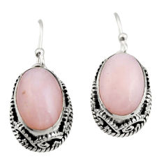 925 sterling silver 8.03cts natural pink opal earrings jewelry r21924