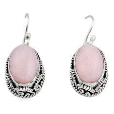 925 sterling silver 8.03cts natural pink opal earrings jewelry r21935