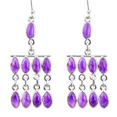 925 sterling silver 19.68cts natural purple amethyst chandelier earrings d39864