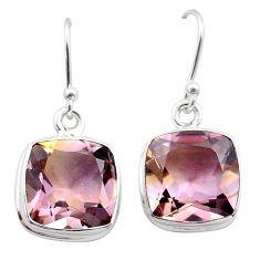 925 sterling silver 15.08cts natural purple ametrine dangle earrings t45200