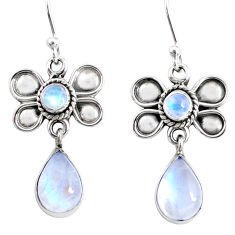 925 sterling silver 9.16cts natural rainbow moonstone butterfly earrings r74804