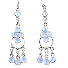 925 sterling silver 9.25cts natural rainbow moonstone chandelier earrings r35677