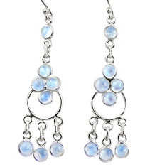 925 sterling silver 9.25cts natural rainbow moonstone chandelier earrings r35680