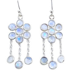 925 sterling silver 10.14cts natural rainbow moonstone chandelier earrings t4656