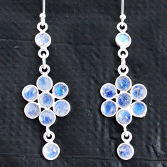 925 sterling silver 6.26cts natural rainbow moonstone chandelier earrings t4680