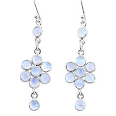 925 sterling silver 7.42cts natural rainbow moonstone chandelier earrings t4760