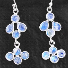 925 sterling silver 6.95cts natural rainbow moonstone chandelier earrings t4817