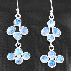 925 sterling silver 7.04cts natural rainbow moonstone chandelier earrings t4820