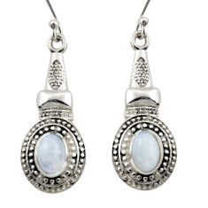 925 sterling silver 3.33cts natural rainbow moonstone dangle earrings d46960