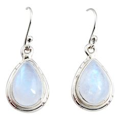 925 sterling silver 8.73cts natural rainbow moonstone dangle earrings r25098