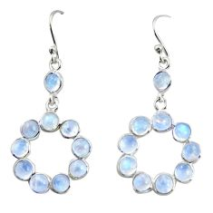 925 sterling silver 8.12cts natural rainbow moonstone dangle earrings r35692