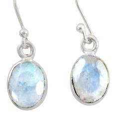 925 sterling silver 4.23cts natural rainbow moonstone dangle earrings r41119