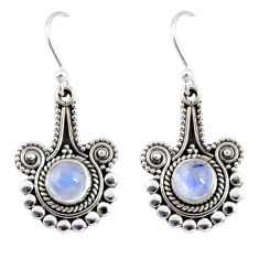 925 sterling silver 2.55cts natural rainbow moonstone dangle earrings r55300