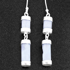 925 sterling silver 16.44cts natural rainbow moonstone dangle earrings t36060
