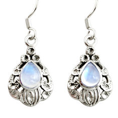 925 sterling silver 5.12cts natural rainbow moonstone earrings jewelry r38540