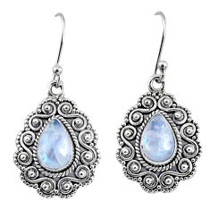 925 sterling silver 5.12cts natural rainbow moonstone earrings jewelry r64200