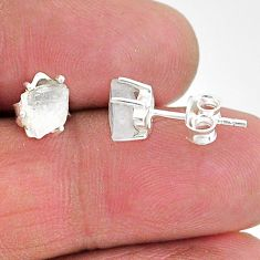 925 sterling silver 3.87cts natural rainbow moonstone earrings jewelry t7499
