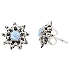 925 sterling silver 1.62cts natural rainbow moonstone stud earrings r22799
